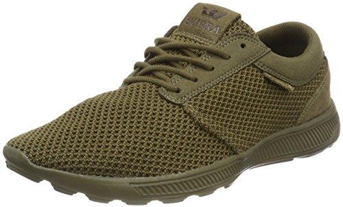 Supra Herren Hammer Run Sneaker, Grün (Olive), 42.5 EU