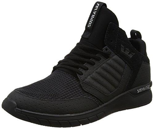 Supra Herren Method Sneaker, Black (Black Black), 43 EU