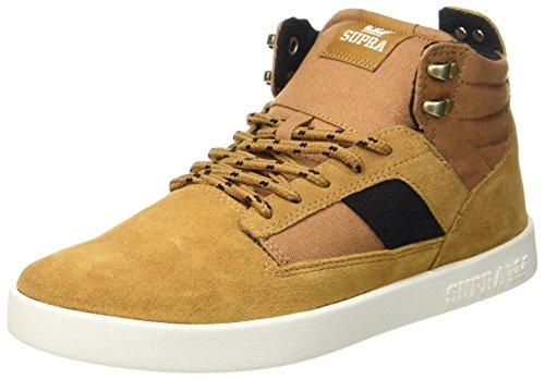 Supra Herren Bandit Sneaker, Braun (Tan-Off White), 45.5 EU