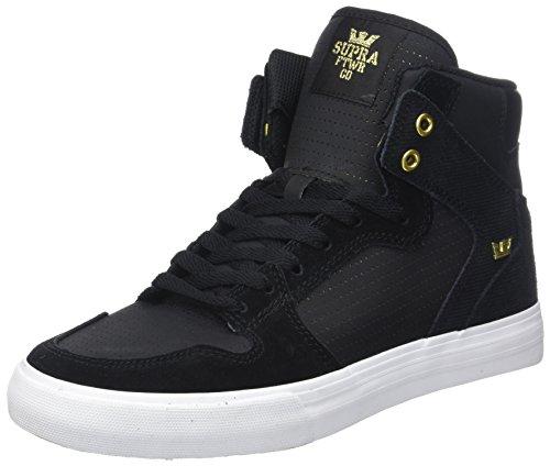 Supra Herren Vaider Sneaker, Schwarz (Black/Gold), 41 EU
