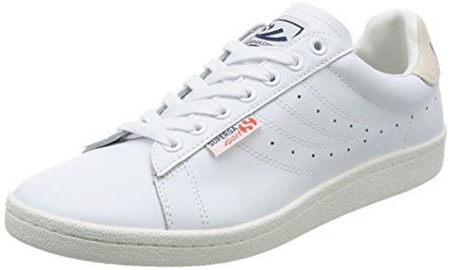 Superga Unisex-Erwachsene 4832 Efglu Sneaker, Weiß (White), 44 EU