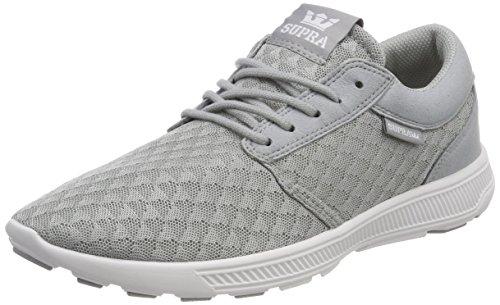 Supra Herren Hammer Run Sneaker, Grau (LT. Grey-White), 44.5 EU