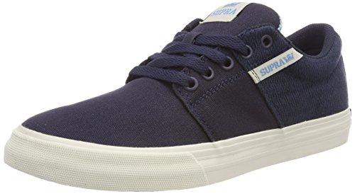 Supra Herren Stacks II VULC Sneaker, Blau (Navy/Aquifer-White), 42 EU