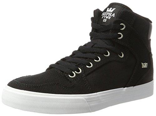 Supra Herren Vaider Sneaker, Schwarz (Black-White/White), 40 EU