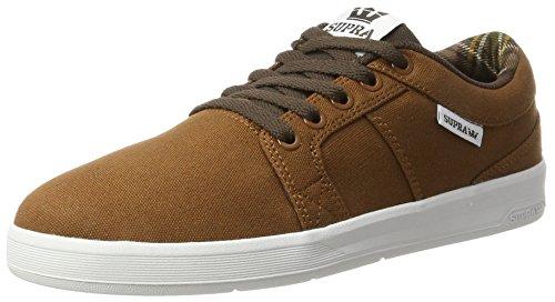 Supra Herren Ineto Sneaker, Braun (Brown-White), 42 EU