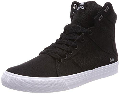 Supra Herren Aluminum Sneaker, Schwarz (Black-White), 45 EU