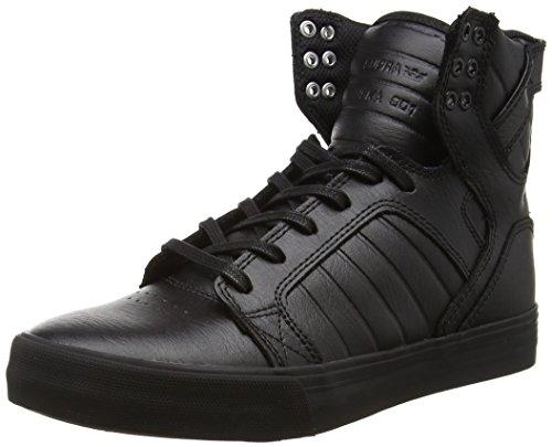 Supra Skytop, Unisex-Erwachsene Hohe Sneakers, Schwarz (Black/Black - Red RCS), 44 EU (9 Erwachsene UK)