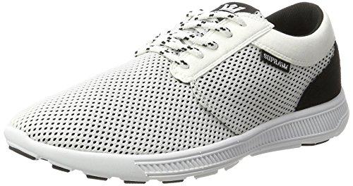 Supra Herren Hammer Run Sneaker, Weiß (White-Black), 45.5 EU