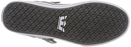 Supra Herren Vaider Sneaker, Grau (Charcoal-White), 42 EU