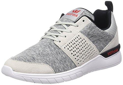 Supra Herren Scissor Sneaker, Grau (Lt. Grey-Red), 42.5 EU