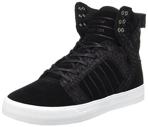 Supra Herren Skytop Sneaker, Schwarz (Black Cayman), 45 EU
