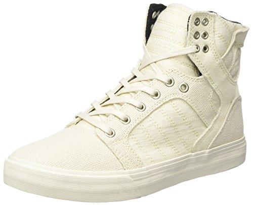 Supra Herren Skytop Sneaker, Weiß (Off White-Off White), 42.5 EU