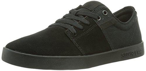 Supra STACKS II, Unisex-Erwachsene Sneakers, Schwarz (BLACK - BLACK BBB), 42.5 EU (8 Erwachsene UK)