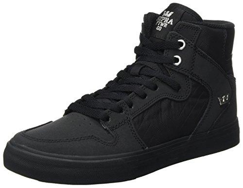 Supra Herren Vaider Sneaker, Schwarz (Black-Black), 43 EU