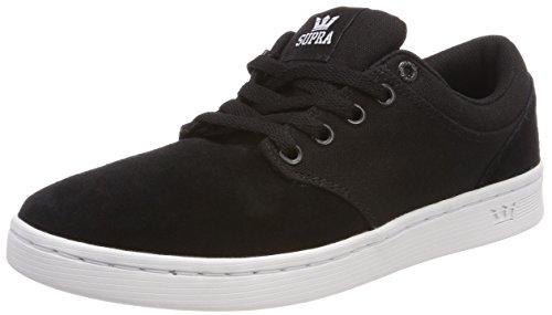 Supra Herren Chino Court Sneaker, Schwarz (Black/White), 44 EU