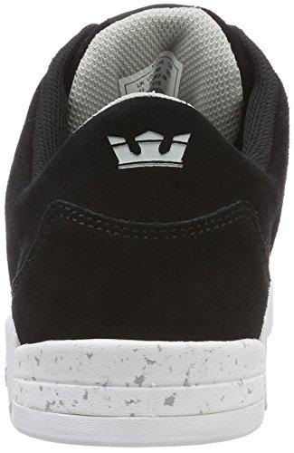 Supra Herren Ellington Sneaker, Schwarz (Black/LT Grey-White), 44 EU