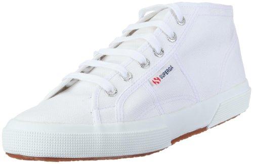 Superga 2754 COTU, Unisex-Erwachsene Hohe Sneaker, Weiß (901), 44 EU,(9.5UK)