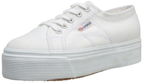 Superga 2790 Linea Updown Flatform Damen Sneaker,Weiß (901),42 EU