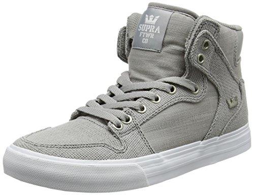 Supra Herren Vaider Sneaker, Grau (Grey-White/Grey), 43 EU