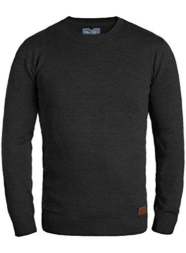 BLEND Lars 20703347ME Strickpullover, Größe:M;Farbe:Black (70155)