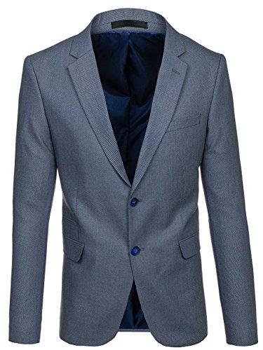 BOLF Herren Sakko Slim Fit Blazer Classic Elegant BIBLOS 1050 Grau S/48 [4D4]