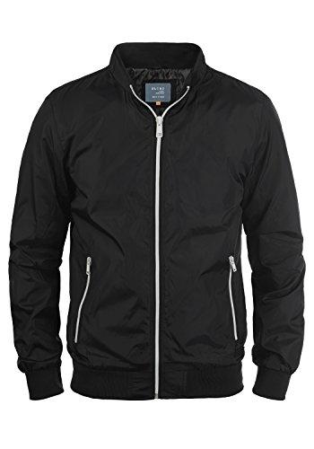 Blend Brad Herren Übergangsjacke Herrenjacke Nylonjacke Mit Stehkragen, Größe:S, Farbe:Black (70155)