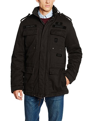 Brandit Herren Jacke Ryan M65 Winterjacket, Schwarz (Black 2), Large
