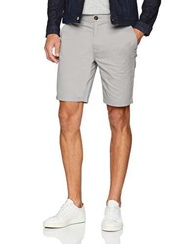 Burton Menswear London Herren Grey Chino Short, Multicolour (Grey), 36W (Hersteller Größe: 36)