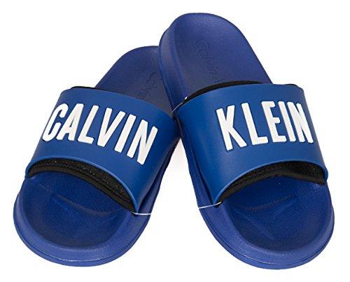 Calvin klein K9UK014044 Sandals Man Blue 4546