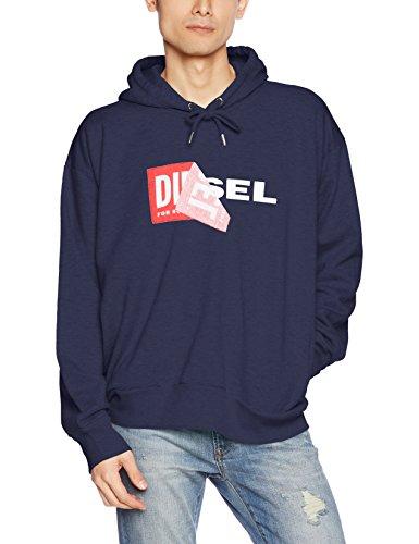Diesel Herren Sweatshirt 00S8WB0IAEG, Blau (Navy/Blue 8at), X-Large (Herstellergröße:X-Large)