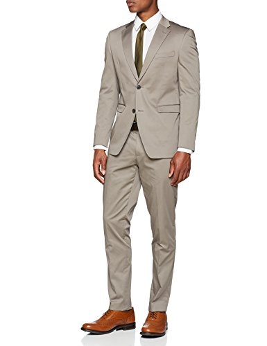 ESPRIT Collection Herren Anzug 038EO2M004, Beige (Light Taupe 260), 52