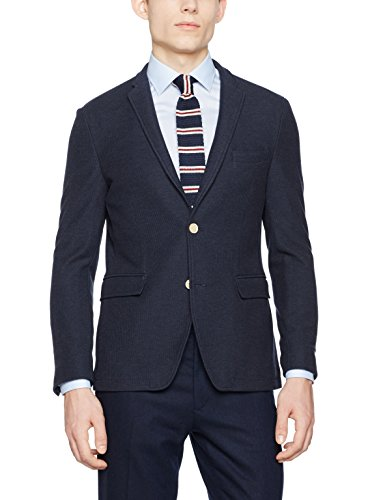 ESPRIT Collection Herren Sakko 037EO2G021, Blau (Navy 400), 54