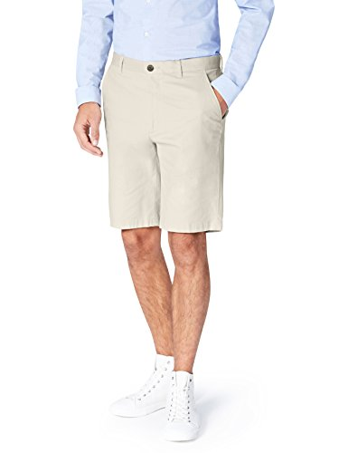 FIND Shorts Herren Chino-Shorts mit geradem Bein, Beige (Light Stone), 50 (Herstellergröße: Medium)