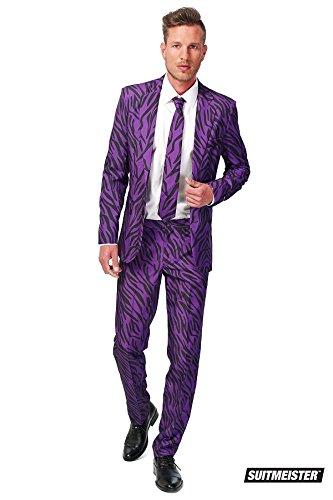 Generique Violetter Tiger-Anzug Suitmaster für Herren S