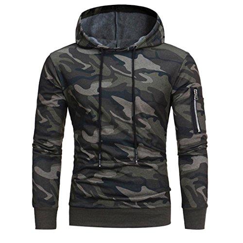 Herren Pullover Camouflage Btruely Mode Hoodie Sweatshirt Langarm Mantel Outwear
