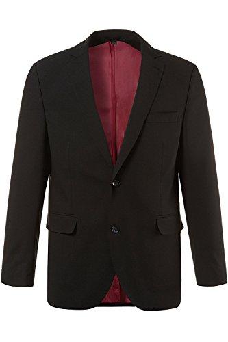 JP 1880 Herren große Größen bis 70 | Sakko Zeus, Anzug-Jacke | Blazer mit 2-Knopf Verschluss | Schnurwoll-Qualität | Gehschlitz | schwarz 28 705513 10-28