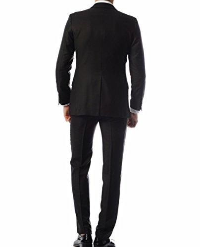 Keskin Collection Herren Anzug Schwarz Model EROL , verfügbare Größen 43 – 60 (60, Schwarz)