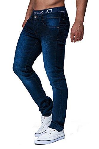 LEIF NELSON Herren Hose Jeans Jeanshose Freizeithose Denim LN303; W33L34, Blau