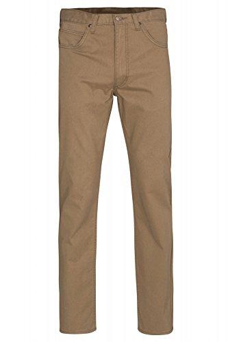 Lee Brooklyn Straight Hose Herren Stoffhose Freizeit-Hose Braun mit 5 Taschen, Größenauswahl:W36/L30