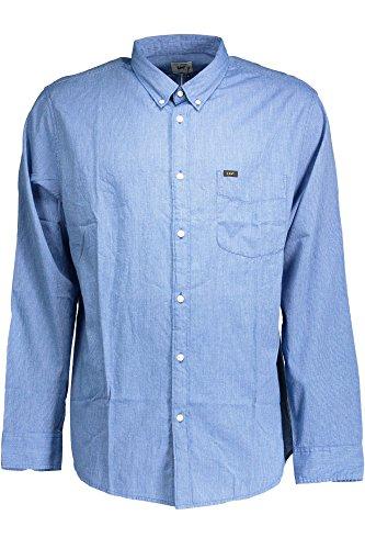 Lee Button Down Shirt Herren Hemd Freizeithemd Blau L880DXFE, Größenauswahl:S