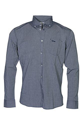 Lee Cooper Herren Freizeit-Hemd, Einfarbig blau blau Gr. Medium, blau