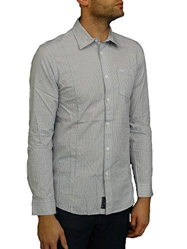 Lee Cooper Herren Freizeit-Hemd Gr. Medium, Weiß - weiß