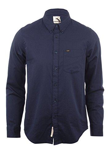 Lee Herren Freizeit-Hemd Blau Navy