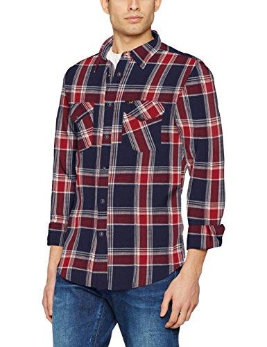Lee Herren Freizeit Hemd Western Shirt, Mehrfarbig (State Blue AP), Medium
