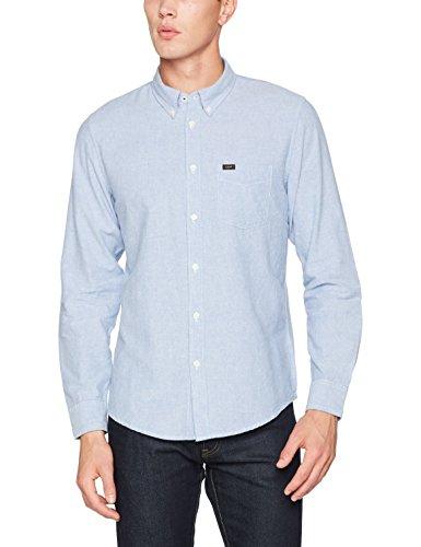 Lee Herren Freizeithemd Button Down, Blau (Sodalite Blue Cndi), 41 (Herstellergröße: L)