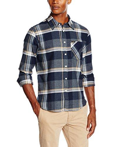 Lee Herren Freizeithemd Shirt, Grau (Storm Grey PK), Kragenweite: 43 cm (Herstellergröße: XL)