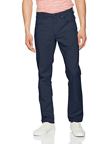Lee Herren Hose Brooklyn Straight, Blau (Faded Navy 34), W42/L32 (Herstellergröße: 42)