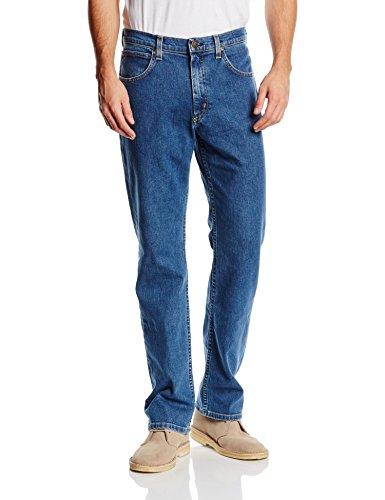 Lee Herren Jeans Normaler Bund L45271KX, Gr. 33/34, Blau (MID STONEWASH)
