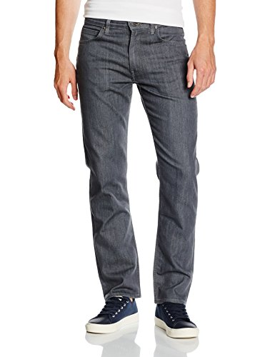 Lee Herren Jeanshose Brooklyn Straight, Grau (Clean Grey 36), W31/L34 (Herstellergröße: 31)