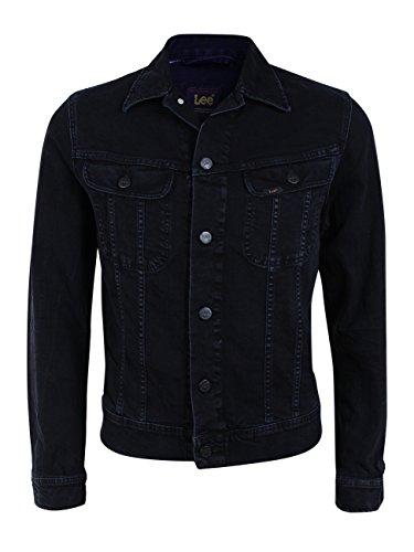 Lee Herren Jeansjacke Slim Rider - Slim Fit - Schwarz - Dark Raven, Größe:XXL, Farbe:Dark Raven (L89RJBLV)